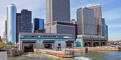 Photograph - Staten Island Ferry Docks  by Frank Morales Jr