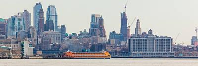 Staten Island Ferry Photograph - Staten Island Ferry In Lower Manhattan by Erin Cadigan