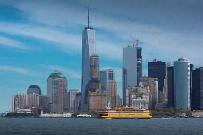 Photograph - Staten Island Ferry Leaving Manhattan by Kenneth Cole