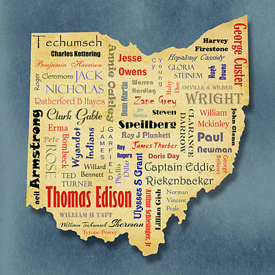 Digital Art - States - Famous Ohio by Ron Grafe