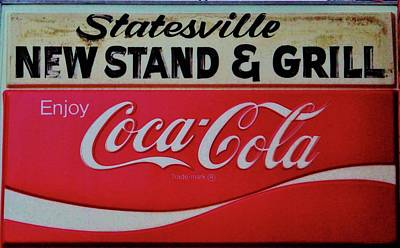 Photograph - Statesville Newsstand by Cynthia Guinn
