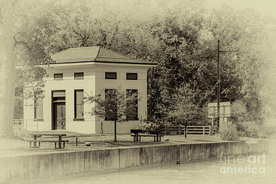 Photograph - Station House In B/w by William Norton
