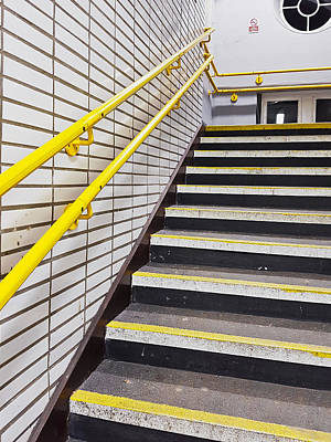 Station Stairs Art Print by Tom Gowanlock