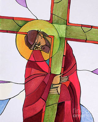 Painting - Stations Of The Cross - 02 Jesus Accepts The Cross - Mmjcs by Br Mickey McGrath OSFS
