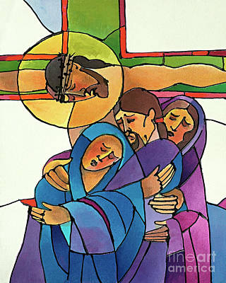 Painting - Stations Of The Cross - 12 Jesus Dies On The Cross - Mmjde by Br Mickey McGrath OSFS
