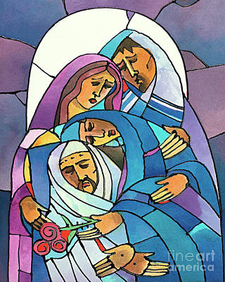 Painting - Stations Of The Cross - 14 Body Of Jesus Is Laid In The Tomb - Mmjla by Br Mickey McGrath OSFS