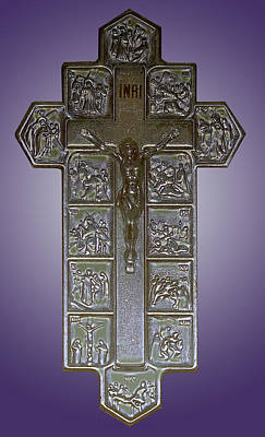 Photograph - Stations Of The Cross Crucifix by Anne Cameron Cutri