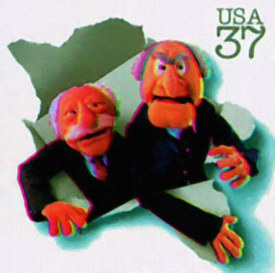 Premieres Painting - Statler And Waldorf by Lanjee Chee
