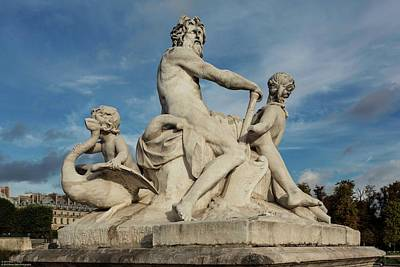 Photograph - Statuaries At Jardin Des Tuileries - 1  by Hany J