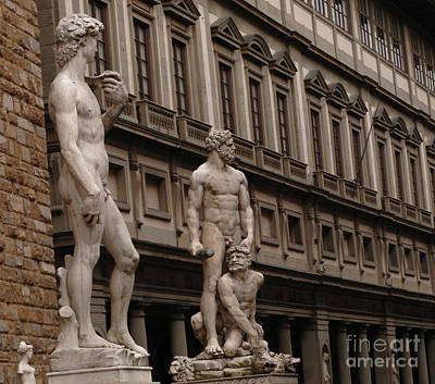 Photograph - Statuary In Florence by Bob Christopher