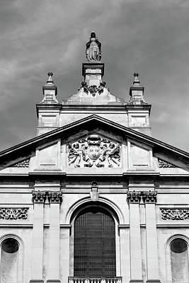 Statue And Pediment Of Oratory London Art Print by Jacek Wojnarowski