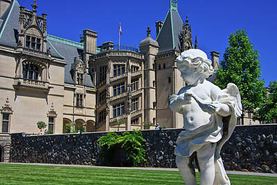 Photograph - Statue At Biltmore House by Jill Lang