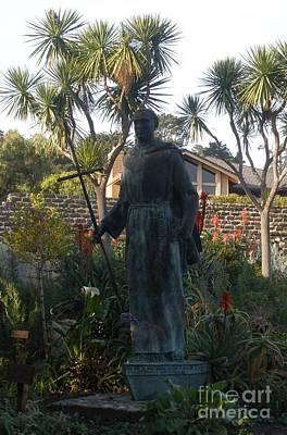 Statue At Mission Carmel Art Print