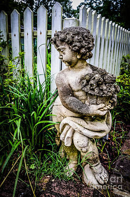 Photograph - Statue By The Picket Fence-myrtles Plantation by Kathleen K Parker