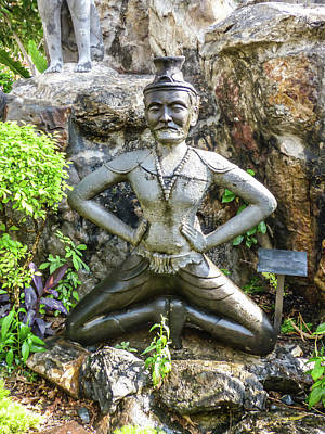 Photograph - Statue Depicting A Thai Yoga Pose At Wat Pho Temple by Helissa Grundemann