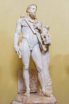 Photograph - Statue Hercules And Telephus In Vatican Museum by Marek Poplawski