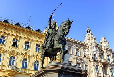 Photograph - Statue In Ban Jelacic Square, Zagreb, Croatia by Elenarts - Elena Duvernay photo