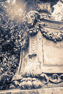 Bryant Park Photograph - Statue In Bryant Park Nyc by Edward Fielding