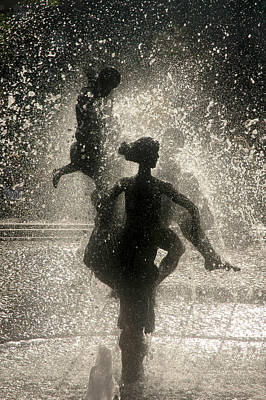 Water Fountain Digital Art - Statue In Rostock, Germany by Jeff Burgess