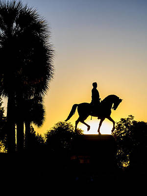 Photograph - Statue In Silhouette by Van Sutherland