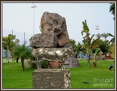 Statue Of A Bull 11 Original