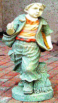 Photograph - Statue Of A Running Boy by Merton Allen