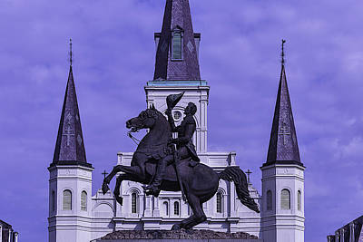 St Louis Square Photograph - Statue Of Andrew Jackson by Garry Gay