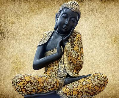 Statue Portrait Photograph - Statue Of Buddha by Art Spectrum