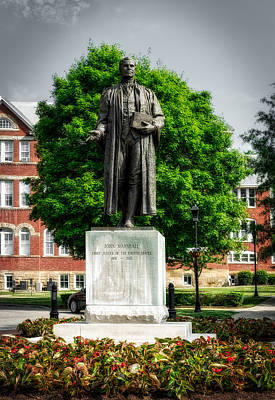 Chief Justice Photograph - Statue Of Chief Justice John Marshall by Mountain Dreams