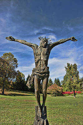 Photograph - Statue Of Christ Of Poland - The Blue Army Shrine Of Our Lady Of Fatima by Allen Beatty