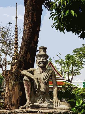 Digital Art - Statue Of Dr Shivago At Wat Pho by Helissa Grundemann