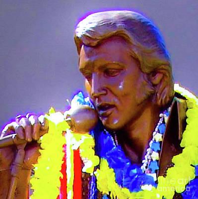 Photograph - Statue Of, Elvis Presley - Honolulu, Hawaii - 565 D  by D Davila