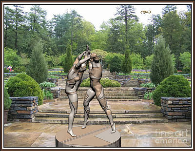 Statue Of Erotic Acrobats 8 Art Print by Pemaro