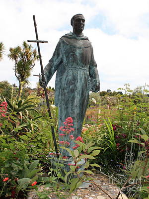 Photograph - Statue Of Father Serra At Carmel Mission by Carol Groenen