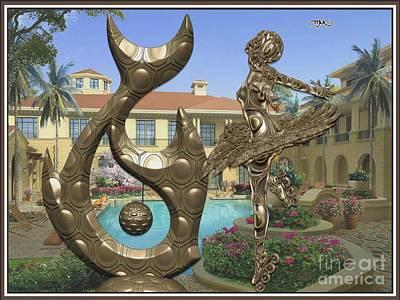Statue Of Fish And Dancing Girl 1 Original