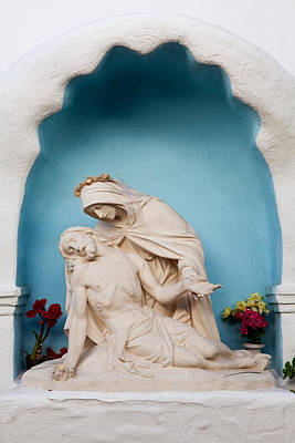 Photograph - Sculpture Of Jesus And Mary - Mission Basilica San Diego De Alcala by Ram Vasudev