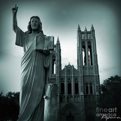 Photograph - Statue Of Jesus Christ, First United Methodist Church, Ft. Worth, Texas by Greg Kopriva