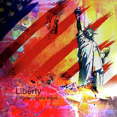 Liberty Painting - Statue Of Liberty 01a by Gull G