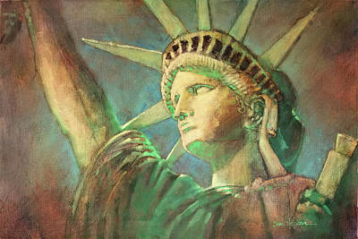 Painting - Statue Of Liberty 1 by Dan Nelson