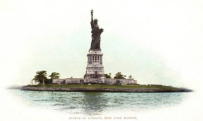 Photograph - Statue Of Liberty, 1900 by Granger