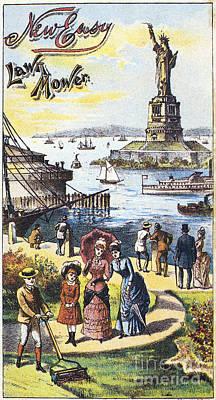 Statue Of Liberty: Ad Art Print