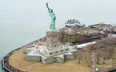 Photograph - Statue Of Liberty And Liberty Island by David Oppenheimer