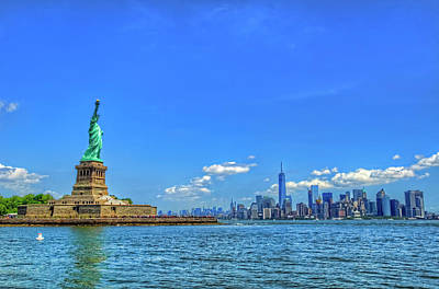Goddess Of Liberty Photograph - Statue Of Liberty And Manhattan by Craig Fildes