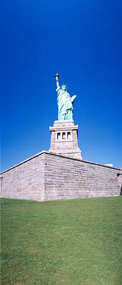 Statue Of Liberty And Pedestal, New York Art Print by Panoramic Images