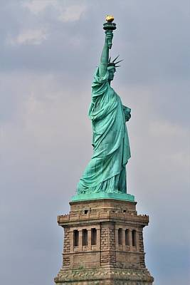 Photograph - Statue of Liberty by Andrew Verdi