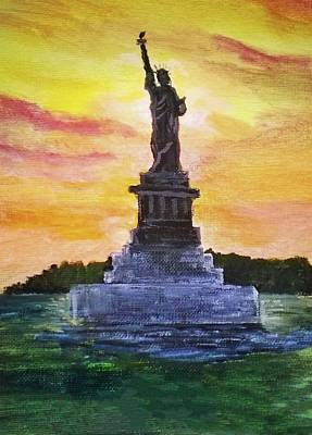 Painting - Statue Of Liberty by Anne Sands