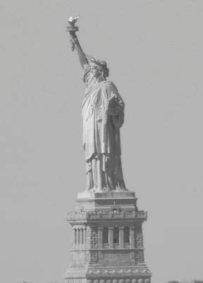 Photograph - Statue Of Liberty Black And White by Christopher Kirby