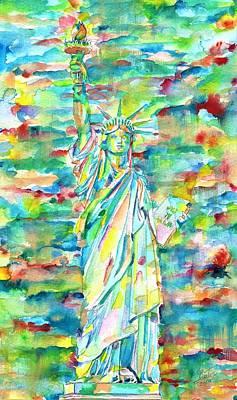 Painting - Statue Of Liberty by Fabrizio Cassetta
