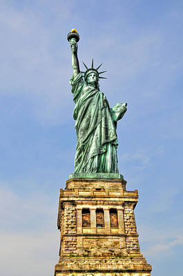 Statue Of Liberty Front View Art Print by Randy Aveille