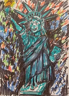 Book Quotes - Statue Of Liberty by Geraldine Myszenski